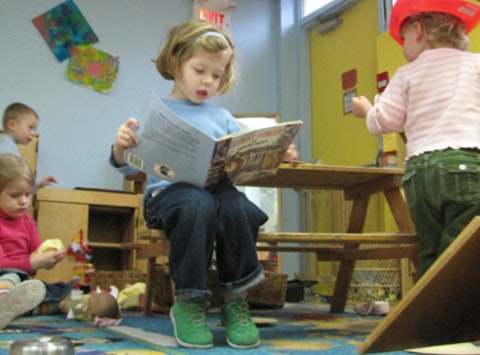 Cabbagetown Nursery School loves books!