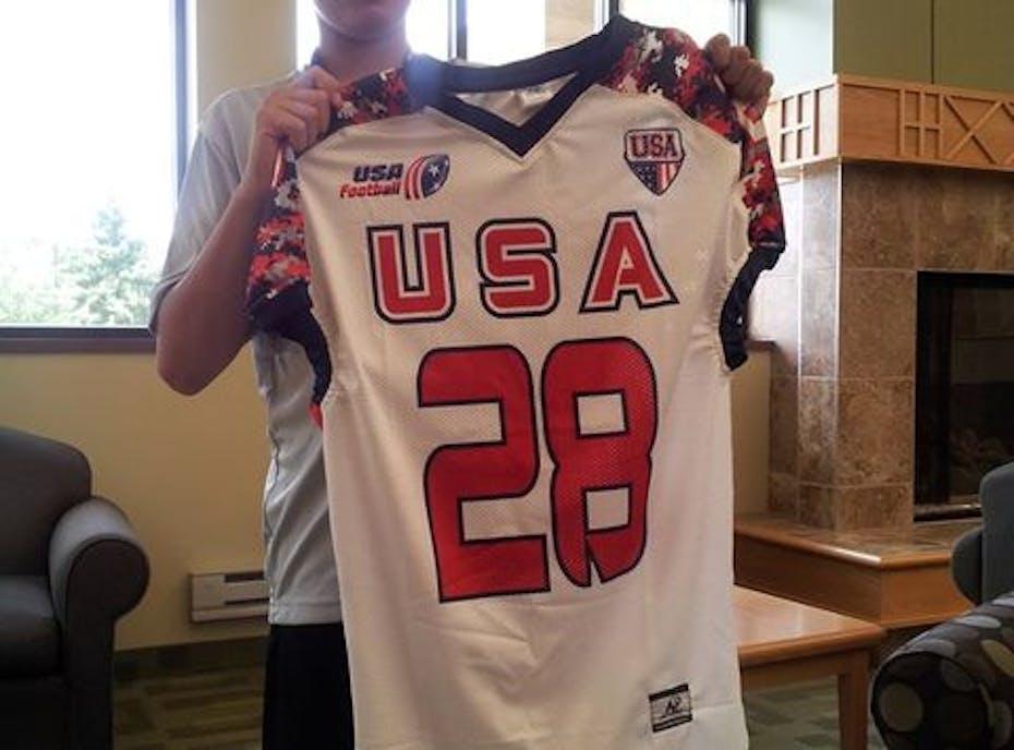 Aaron and Marcus' Team USA Football fundraiser