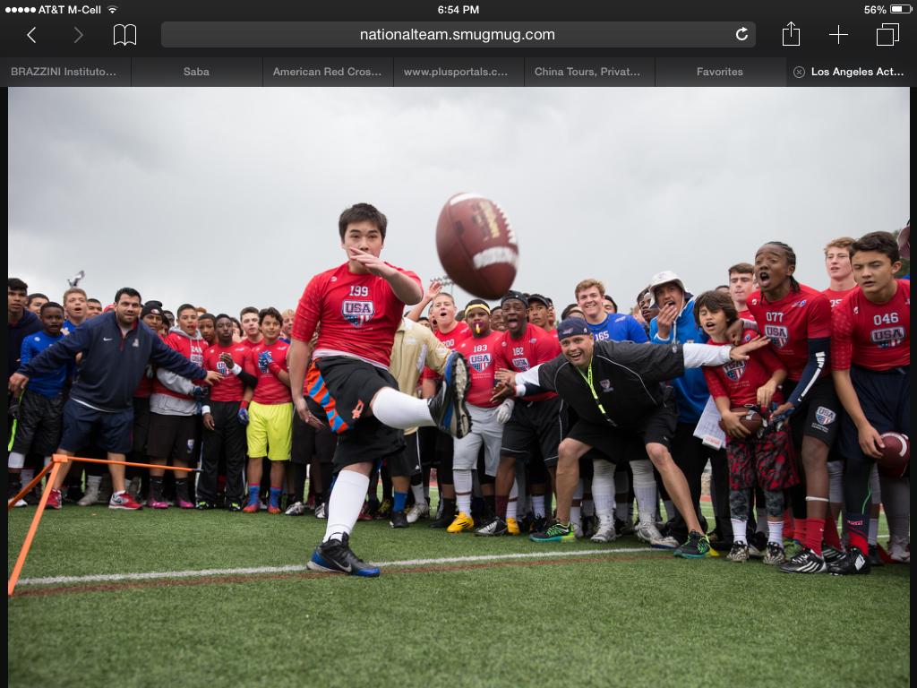 Tony in USA Football Team