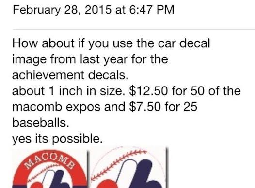 baseball fundraising - Macomb Expos's Ripkin fundraiser