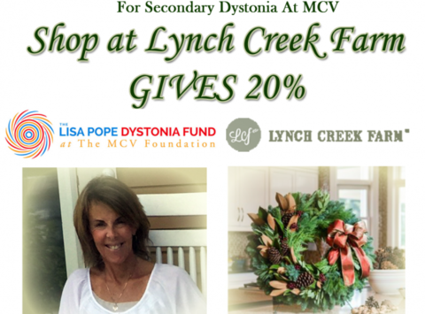2015 Wreath Ha Ha FBO The Lisa Pope Research Fund For Secondary Dystonia  At MCV