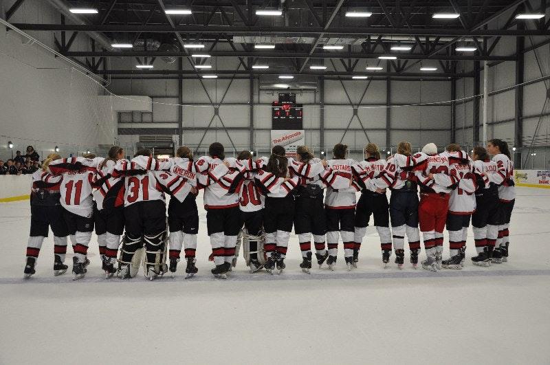 Bantam AAA Rockets Female Hockey Team