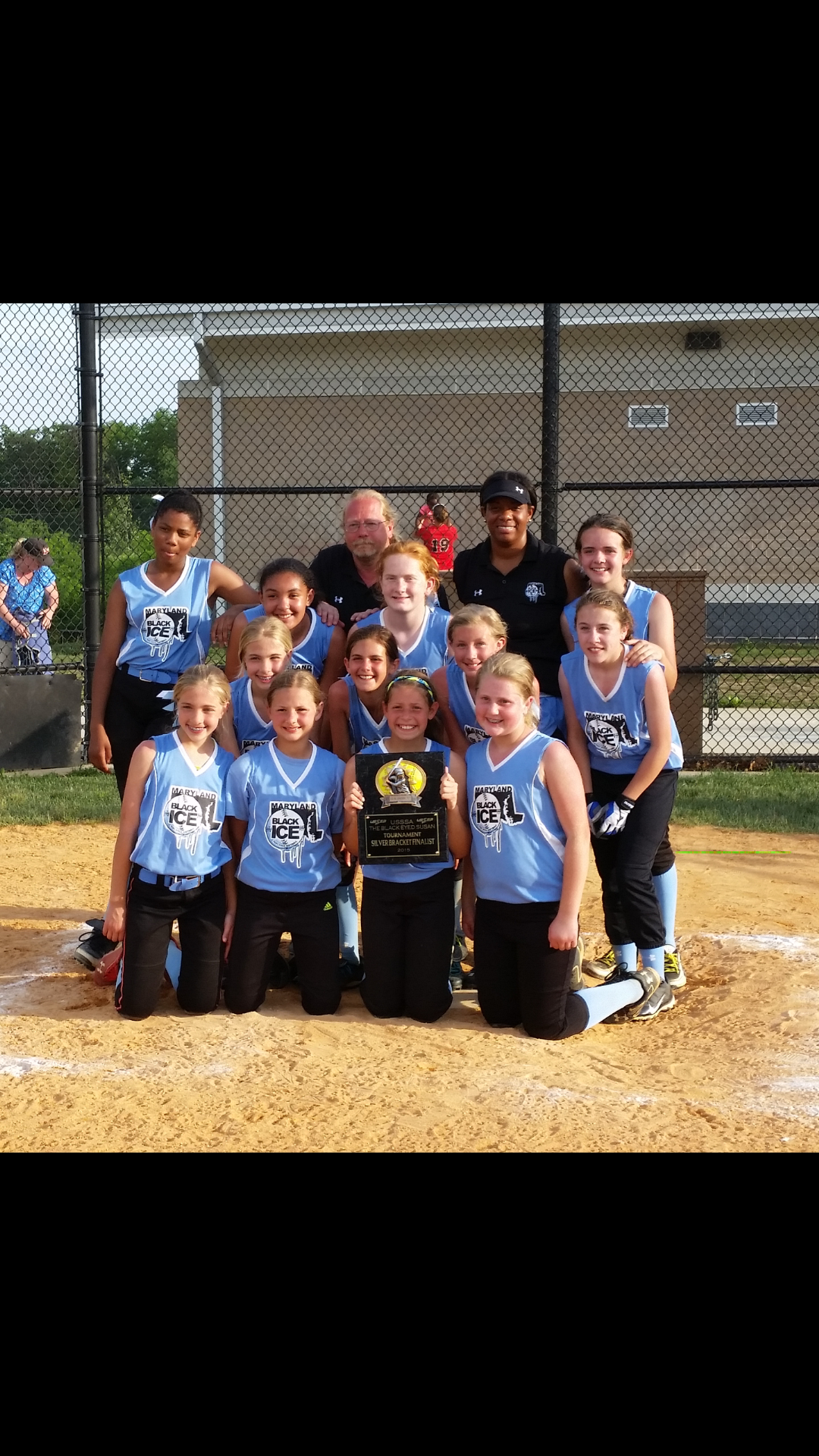 U-12 Maryland Black Ice Softball Team