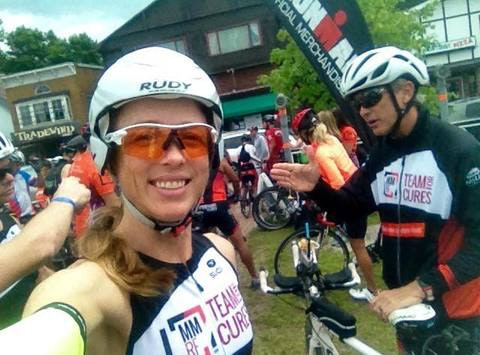 Aleesa Adams Does Triathlons for the MMRF