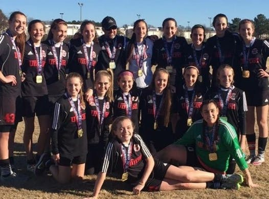 soccer fundraising - Eliza's Club team headed to Texas