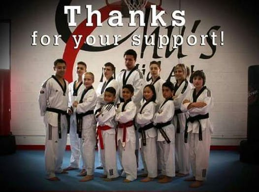 martial arts fundraising - Chu's Martial Arts High Performance Team