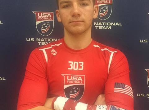 Jacob Catron's opportunity to play US National Football Development Games