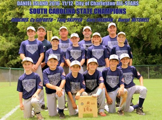 baseball fundraising - DI /Charleston / SC Dogs All Stars 2016