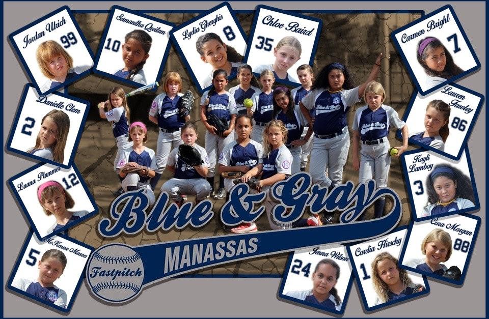 8U Manassas Blue and Gray