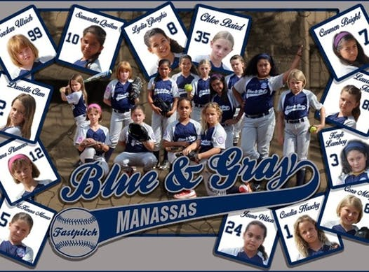 softball fundraising - 8U Manassas Blue and Gray
