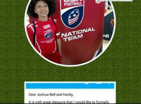 Joshua's USA FOOTBALL TEAM.