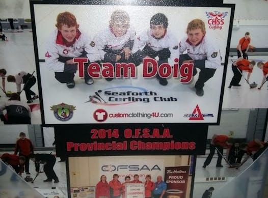 curling fundraising - Team Doig