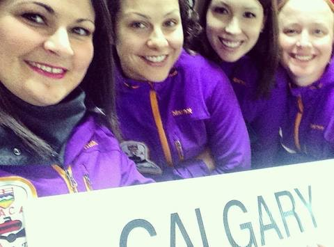 curling fundraising - Team Alberta Women at Travelers Nationals