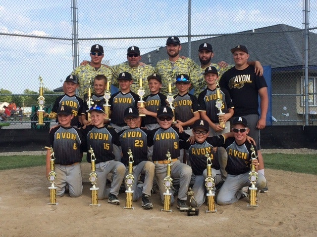 Avon Baseball Club10 U Black