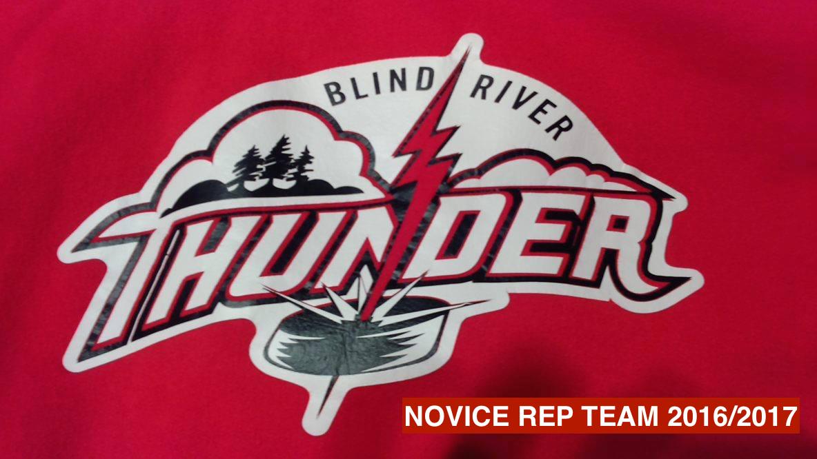 The Blind River Novice Thunder Rep Team