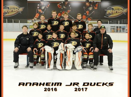 ice hockey fundraising - 2016/17 Anaheim Jr Ducks 10U - Squirt A