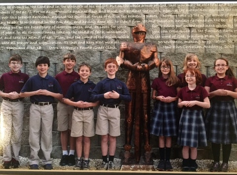 Haw River Christian Academy 5th Grade Class