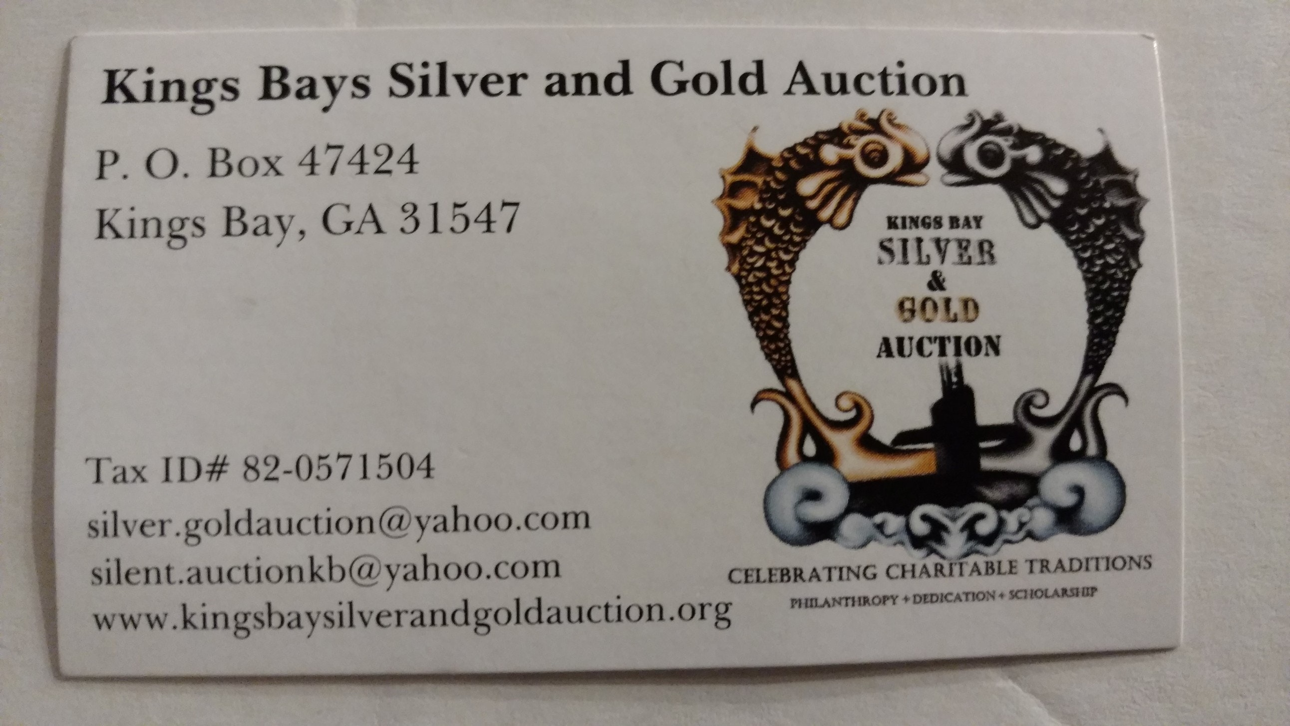 Kings Bay Silver and Gold Auction