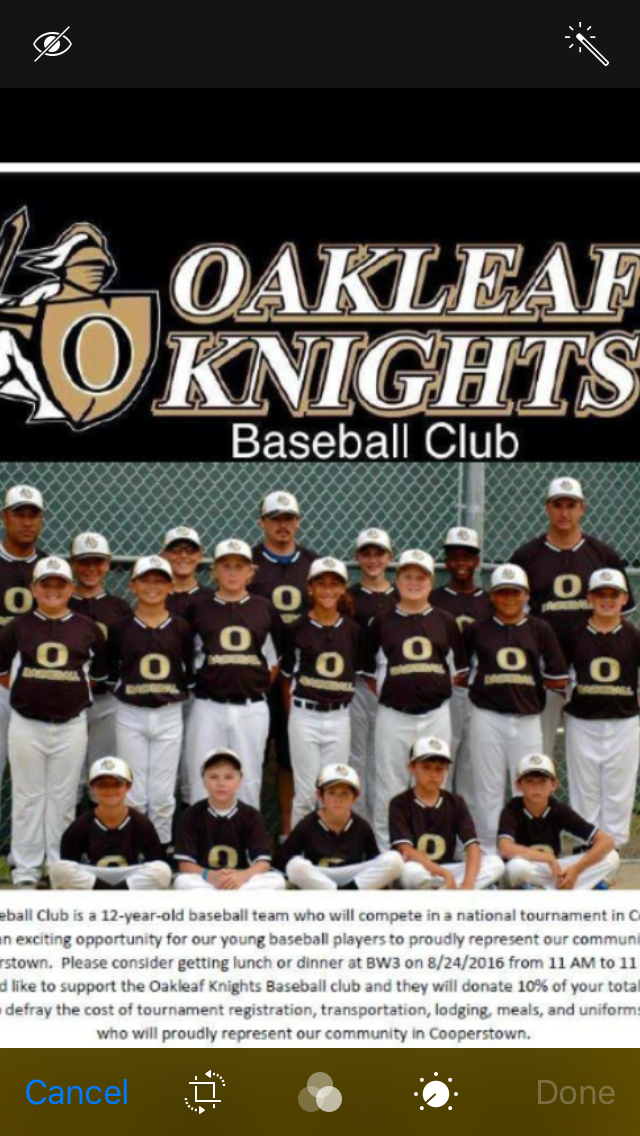 Oakleaf Knights 12U Cooperstown