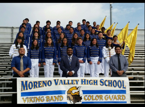 Moreno Valley Band and Colorguard