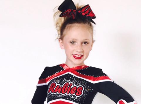 cheerleading fundraising - HDDC Obsidian Cheer Kaylee Turner