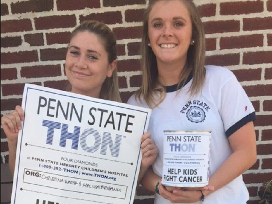Melissa and Christina Benefiting THON