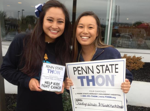Help Jocelyn and Nicole Dance in THON!