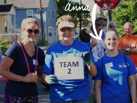 community improvement projects fundraising - Anna Bentley - Habitat for Humanity trip