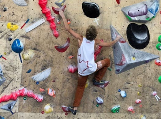 climbing fundraising - TJ Foley Sport Climbing Travel Fund