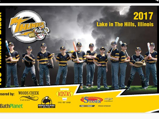 baseball fundraising - Lake in the Hills Thunder Black Baseball