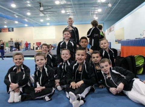 Head Over Heels Boys' Gymnastics Team