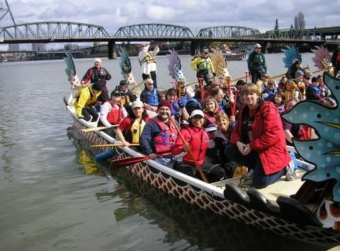 dragon boat fundraising - Dragon Riders, Portland Oregon