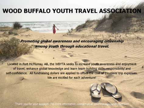 other organization or cause fundraising - Wood Buffalo Youth Travel Association