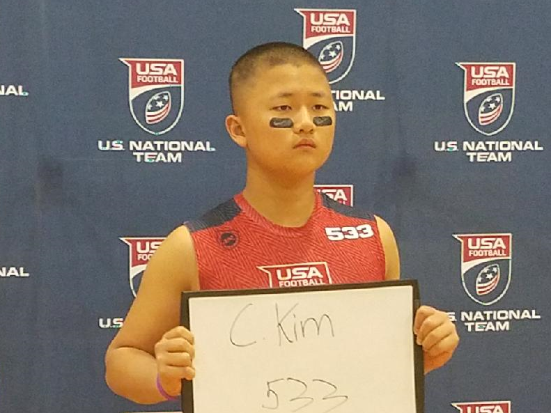 "Caleb ""Animal"" Kim- USA FOOTBALL 2017 US National Team Development Games"