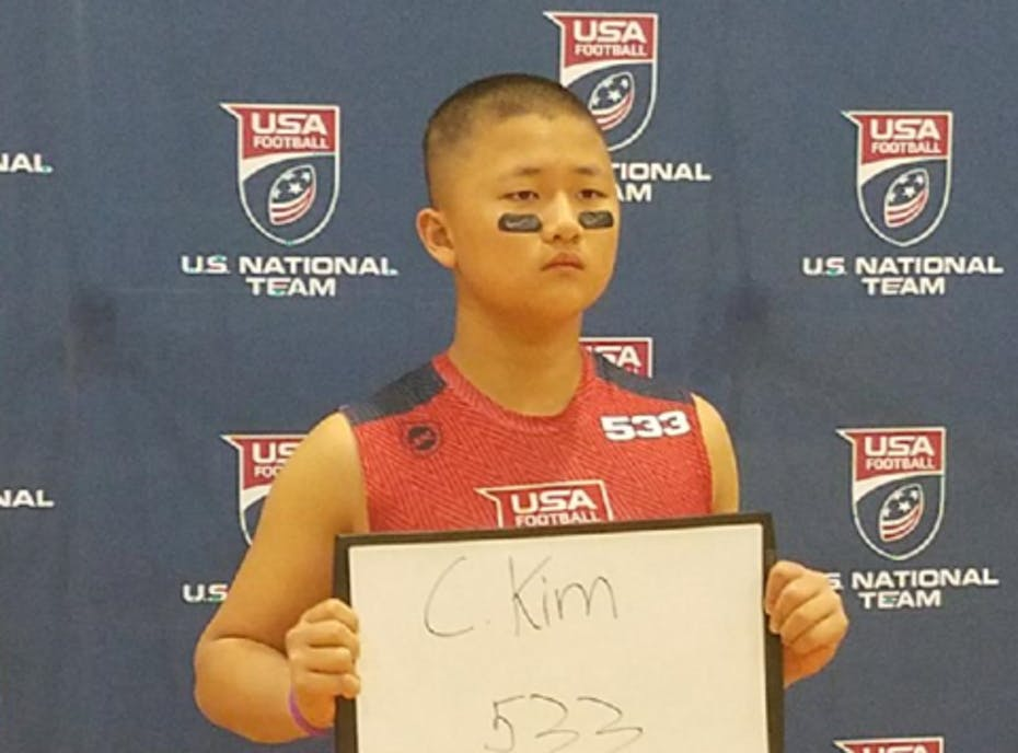 "Caleb ""Animal"" Kim- USA FOOTBALL 2017 US National Team Development Games"