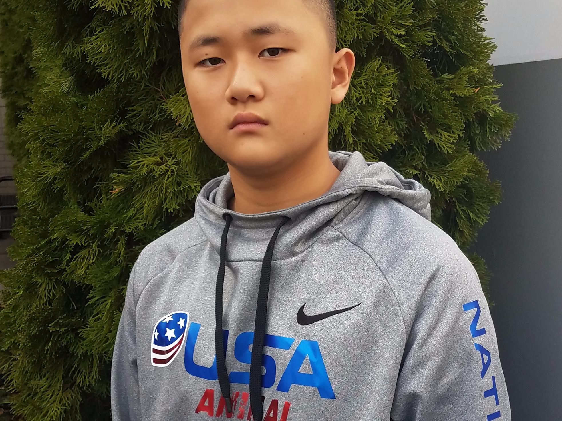 """Caleb """"Animal"""" Kim- USA FOOTBALL 2018 US National Team"""