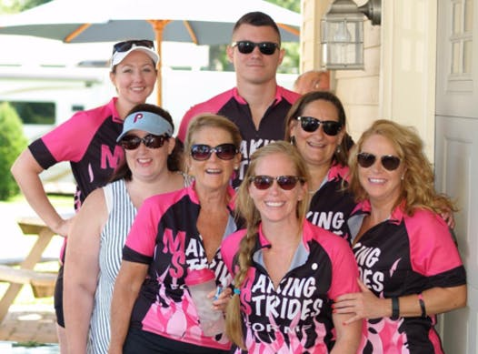 cycling fundraising - Team Making Strides