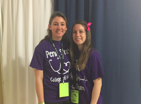 Kay Allan and Emily Edwards IDC THON 2018 Fundraiser