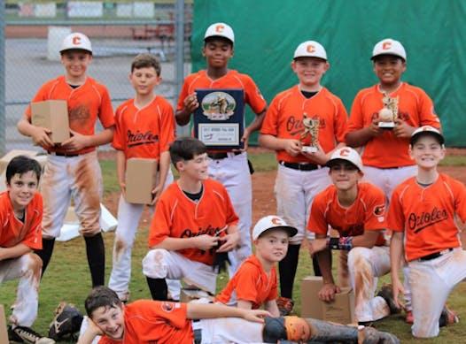 baseball fundraising - CLARKSVILLE ORIOLES BLACK 13U