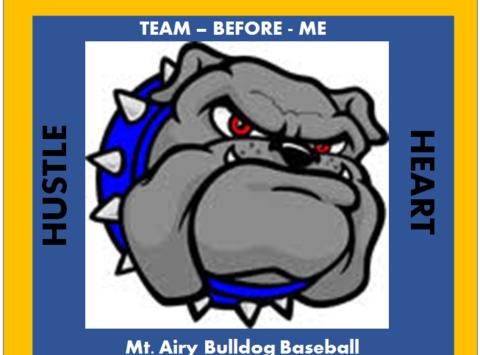 baseball fundraising - Mt. Airy Bulldogs - 14U Travel