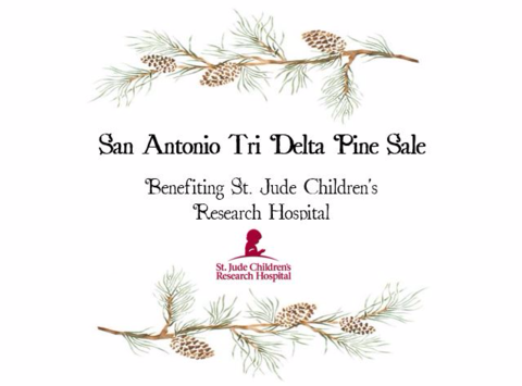 medical & healthcare fundraising - San Antonio Tri Delta Pine Sale