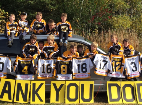ice hockey fundraising - West Carleton Warriors Novice B1