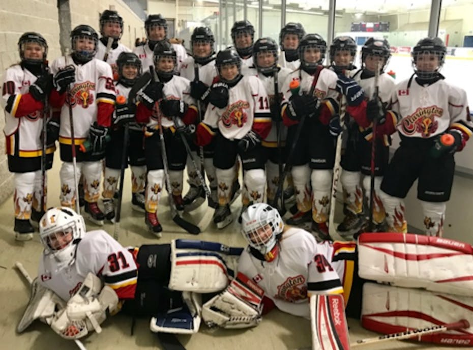 Clarington Flames Peewee A Girls Hockey Team