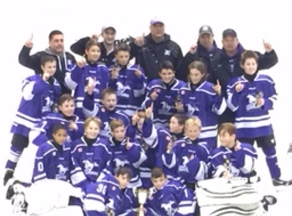 London Junior Mustangs Peewee White