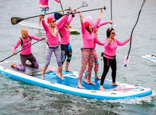paddling fundraising - Standup for the Cure