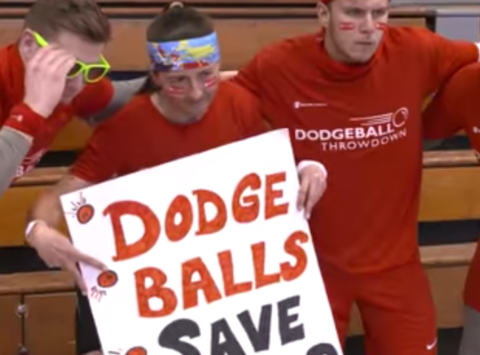 school sports fundraising - Dodge Balls. Save Kids! NCDA + Save The Children