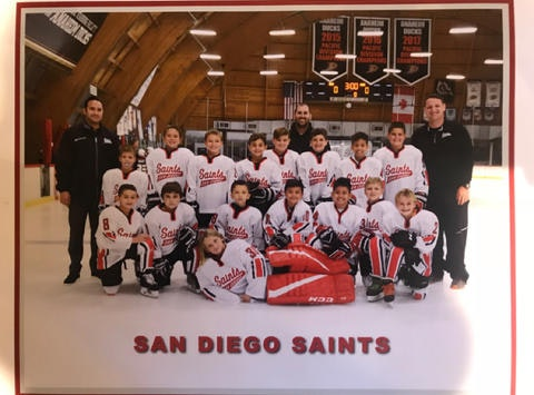 ice hockey fundraising - San Diego Saints 2018 Squirts