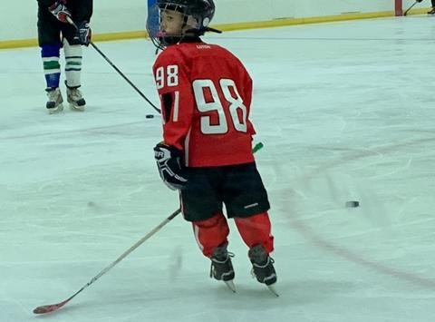 San Diego Youth Hockey Player