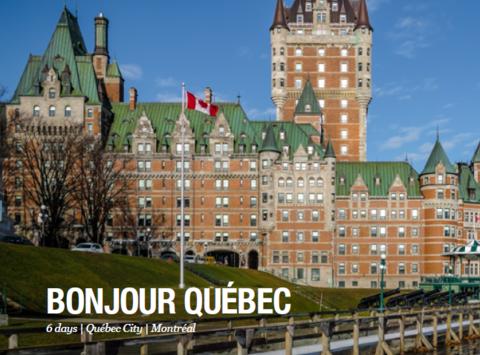 events & trips fundraising - Bonjour Quebec EDF