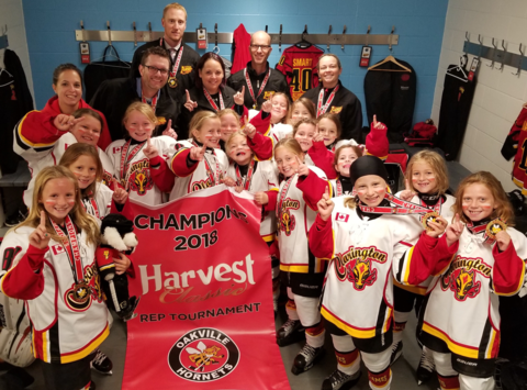 ice hockey fundraising - Clarington Flames Novice A Team